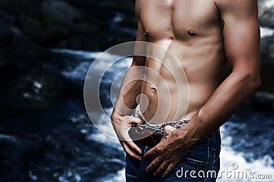 Sexy man  stomach