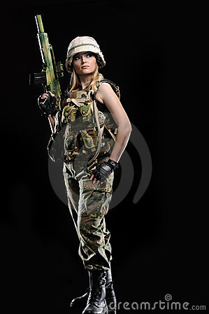Free Sexy Military Girl Stock Photography - 19767982