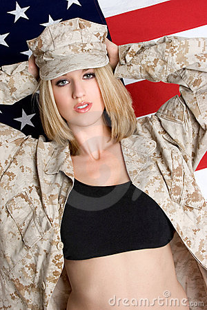 Free Sexy Military Woman Stock Image - 5851981