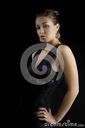 Sexy modelluxury dress