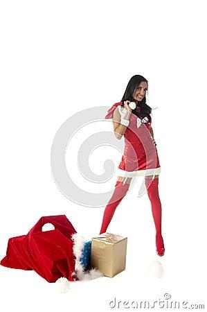 Free Sexy Mrs Santa Royalty Free Stock Photo - 10672475