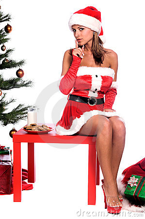 Free Sexy Mrs. Santa Royalty Free Stock Image - 1313306