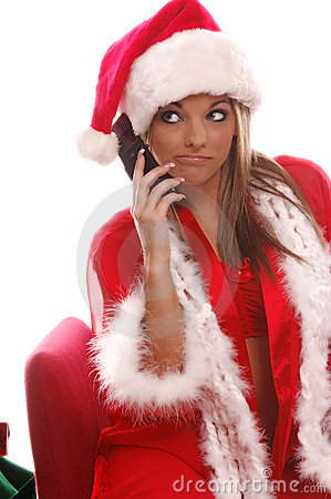 Sexy Mrs Santa Cellphone