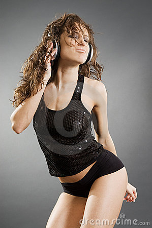 Sexy music lover in dance
