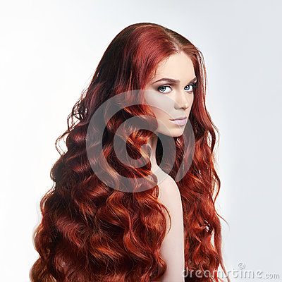 Free Sexy Nude Beautiful Redhead Girl With Long Hair. Perfect Woman Portrait On Light Background. Gorgeous Hair And Deep Eyes. Natural Royalty Free Stock Image - 94326986