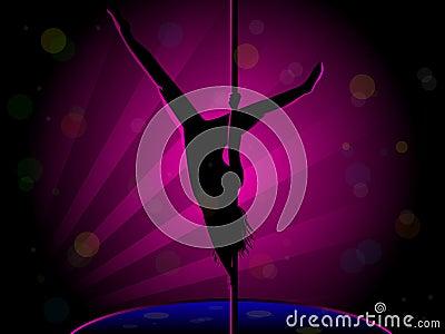 Sexy Pole Dance Silhouette