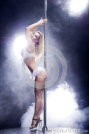 Free Sexy Pole Dance Woman. Stock Photos - 29221693