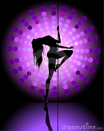 Sexy Pole Dancing Royalty Free Stock Photo - Image: 20248805