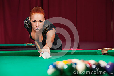 Sexy pool player.
