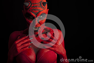 Sexy red devil.