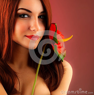 Free Sexy Red Hair Woman Stock Photo - 27449150