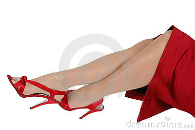 Sexy Red Shoes and Legs