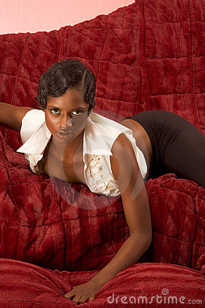 sexy retro African-American woman