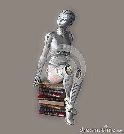 Sexy Robot Stock Photo