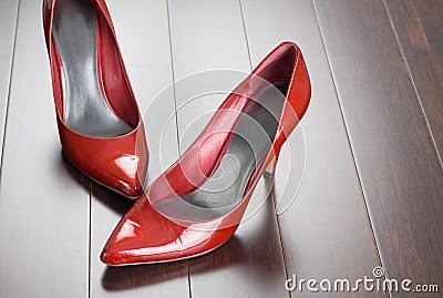 Sexy rode schoenen
