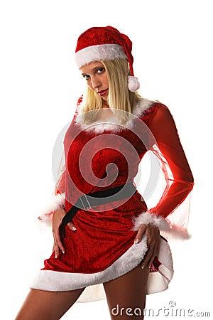 Sexy santa claus woman