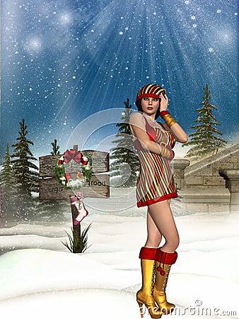 Sexy santa girl