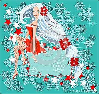 Sexy Santa Girl card