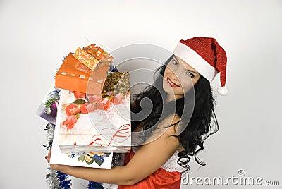 Sexy Santa helper woman