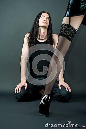 Sexy sensual keg of gothic emo