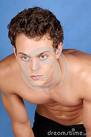 Sexy shirtless young man