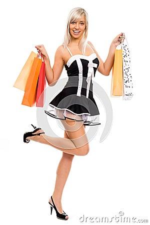 Sexy shopping girl.