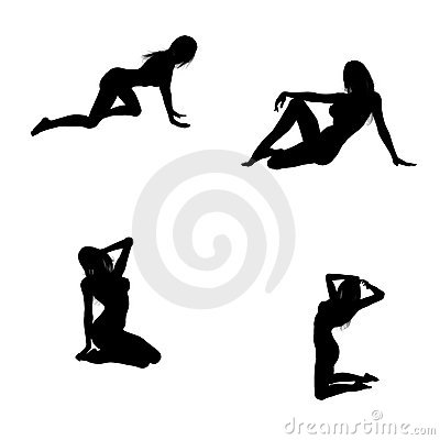 Sexy silhouettes of a woman