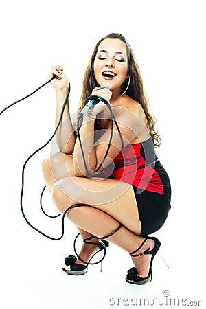 Sexy singing woman