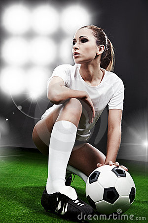 Sexy soccer player,