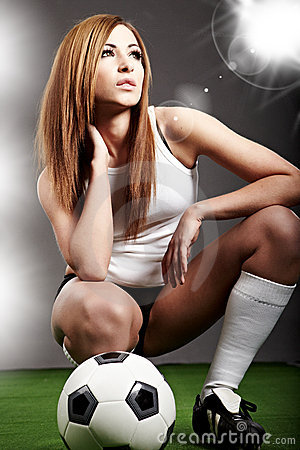Free Sexy Soccer Player, Royalty Free Stock Photo - 12921695