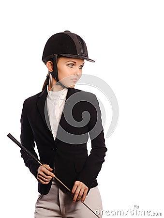 Sexy strict jockey