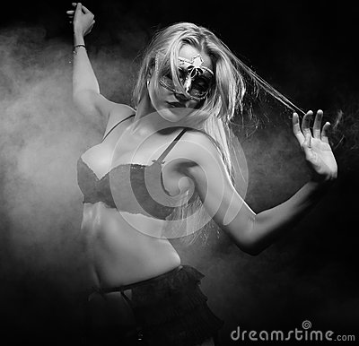 Sexy striptease dancer