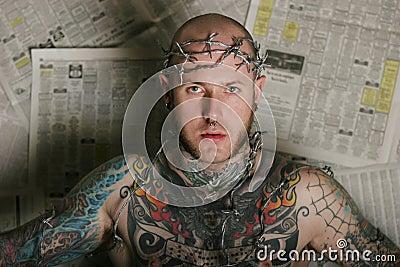 Sexy tattoo man
