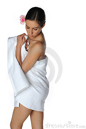 Sexy Towel Girl