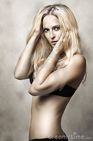 Sexy underwear female model.