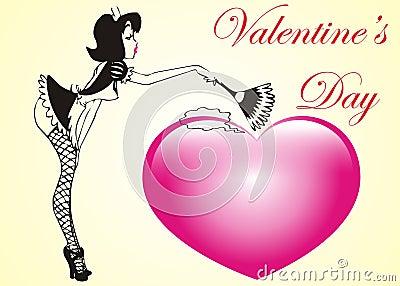 Sexy valentine heart