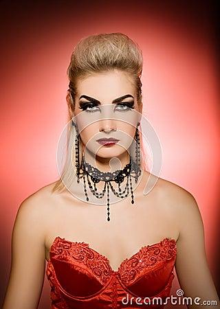 Sexy vamp woman