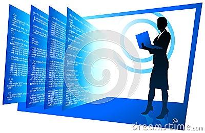 Sexy web developer internet background