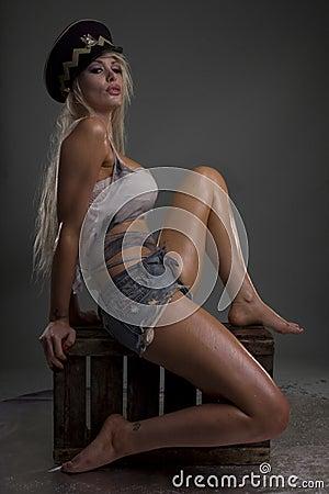 Sexy wet model