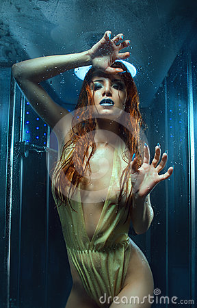 Sexy wet woman in the shower
