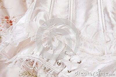 Sexy white corset