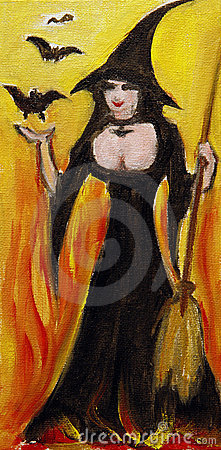 Sexy Witch Painting