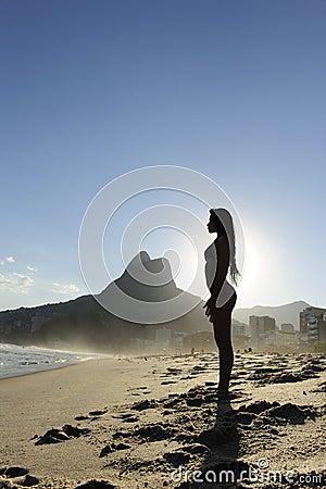 Sexy woman on the  beach, Rio de Janeiro