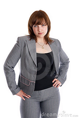 Sexy woman in a business suit