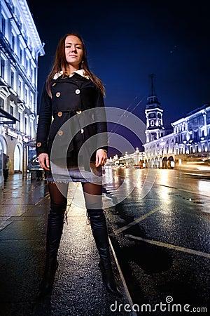 Sexy woman city