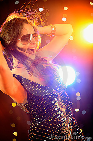 Sexy Woman Dancing In The Nightclub Royalty Free Stock Image - Image: 9550706