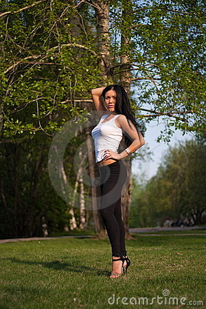 Free Sexy Woman In Park Stock Image - 14623951