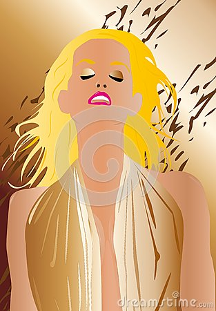 Sexy woman portrait blonde
