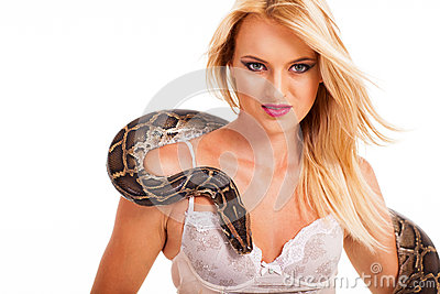 Sexy woman python