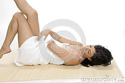 Sexy woman relaxing